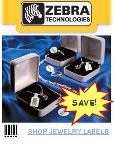 zebra jewelry label